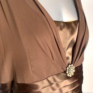 Patra Chocolate Tiered Ruffle Long Maxi Dress